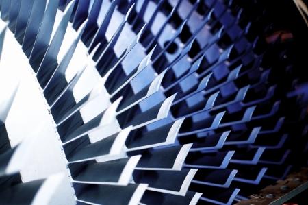 compresor: Comressor Axial tal como se utiliza en un motor de jet moderno. Foto de archivo