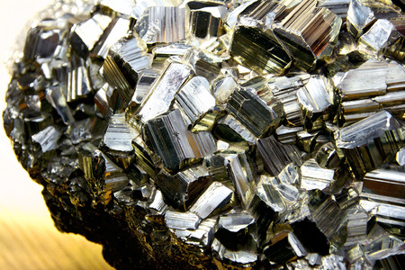 sulfide: Huge chunk of Pyrite also called Fools Gold
