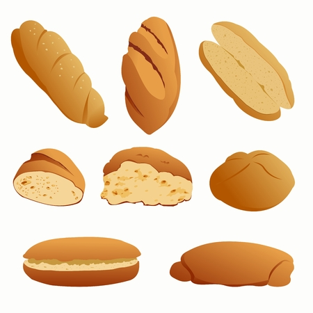 set of bread Illustration