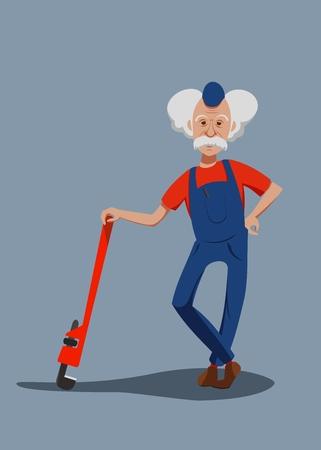 loodgieter met gereedschap