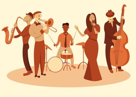 jazz band Ilustracja