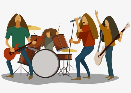 rock band, rock musicians at the concert