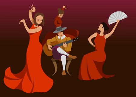 guitarist and flamenco dancer