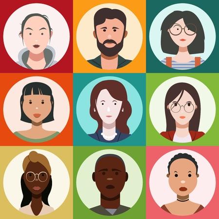 people's faces, set