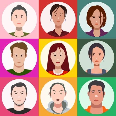 Gesichter der Leute, set