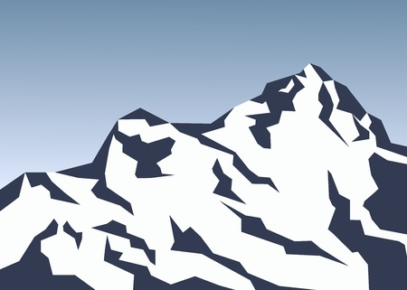 snow covered mountains Stock Vector - 123172478