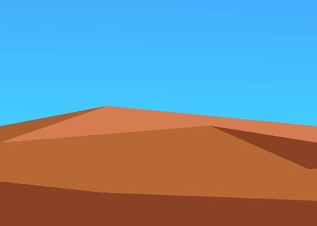 desert against the blue sky