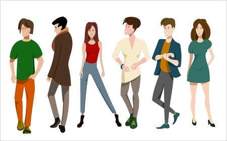 set of different people illustration