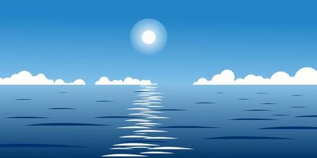 ilustracja w tle niebieskiego nieba