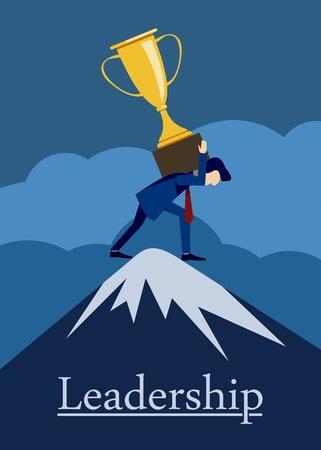 leadership cup illustration