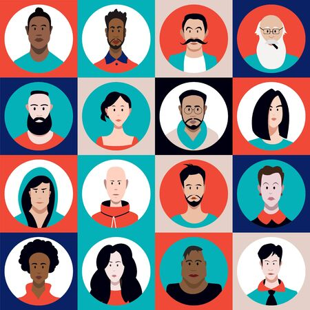 a set of people of different sexes, different ages, different races