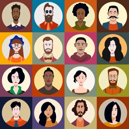 eine Reihe von Menschen unterschiedlichen Geschlechts, unterschiedlichen Alters, unterschiedlicher Rassen