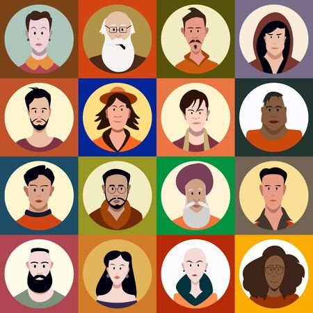 a set of people of different sexes, different ages, different races Stockfoto - 131654745