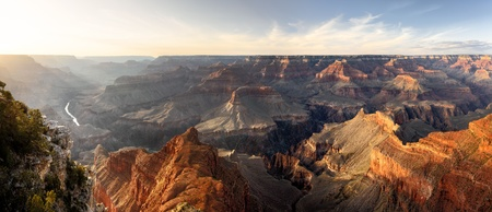 Grand Canyon,  Hopi Point,Sunset, Panorama Stock Photo - 13579216
