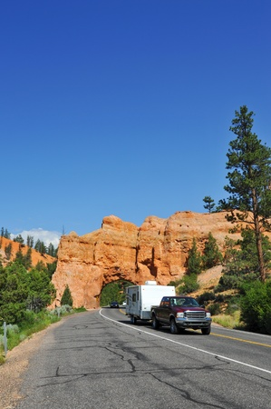 Canper entering Bryce Canyon national park photo