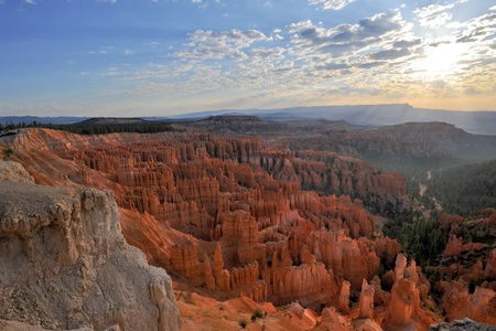 Sunrise at Inspiration Point in Bryce canyon national park photo