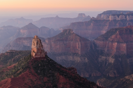 Early morning view from  the Point Imperial overlook in Grand Canyon National Park , Arizona  USA