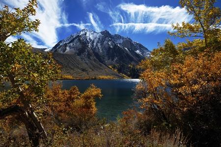 convict lake:  Convict Lake in Autumn Color, California USA