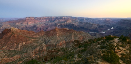 Early-Morning-View of Grand Canyon from Desert-View-point photo