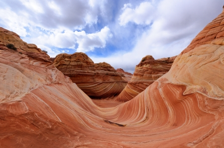 The Wave&Famous rock formation in Pariah Canyon Stock Photo