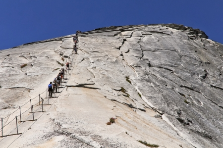 Half Dome cables Stock Photo - 13644345