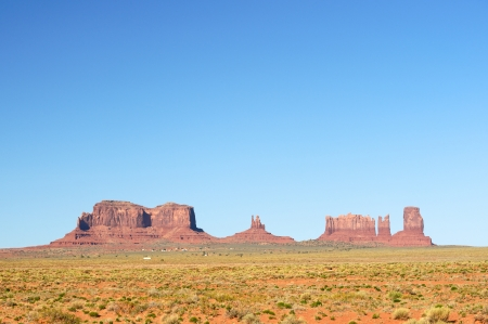 monument valley view: Monument Valley view from the entrance on HWY 163 Stock Photo