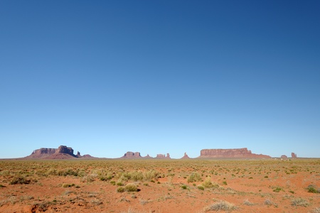 monument valley view: Monument Valley view from the entrance on highway 163 Stock Photo