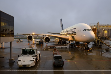 AIRBUS A-380, Singapore Airines SQ-12 at NARITA Airport, April 27, 2012