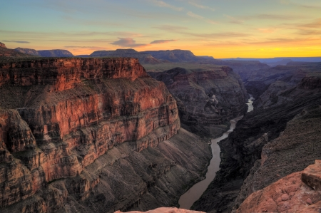 HDR image of the Toroweap Overlook on the north rim of the Grand Canyon National Park, Arizona USA