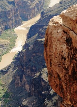 toroweap: Toroweap Overlook on the north rim of the Grand Canyon National Park, Arizona. Stock Photo