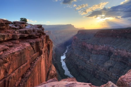 toroweap: Toroweap Overlook on the north rim of the Grand Canyon National Park, Arizona. Stock Photo