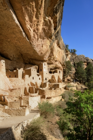 Anasazi cliff dwellings at Mesa Verde National Park, CO