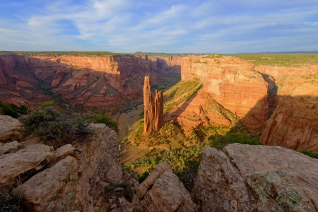 Spider rock at sunset, Canyon de Chelly national monument, Arizona photo