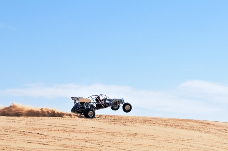 Dune buggy on the sand dune in California
