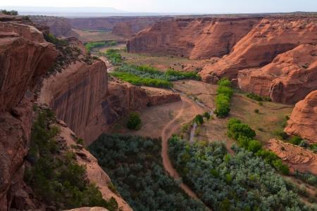 south rim: South Rim of Canyon de Chelly national monument, Arizona Stock Photo