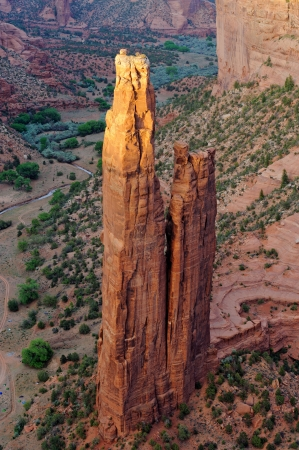 Spider rock at sunset, Canyon de Chelly national monument, Arizona