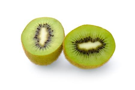 キウイ フルーツは、白で隔離。 写真素材