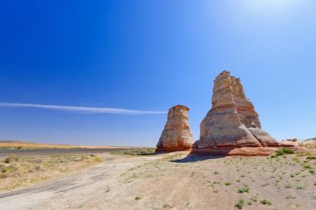 Tuba 都市、アリゾナ州の近くの岩の形成