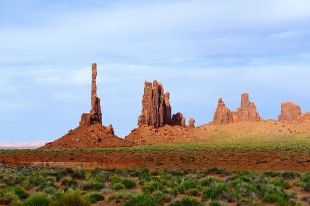 Totem pole,Monument Valley Navajo Tribal Park, in Navajo country USA