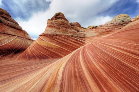 The Wave, Rock Formation at North Coyote Buttes in Utah USA photo