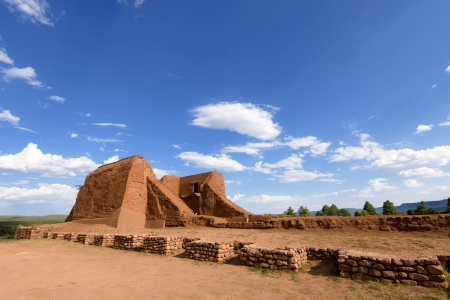 adobe pueblo: Pecos National Historical Park in the U S  state of New Mexico
