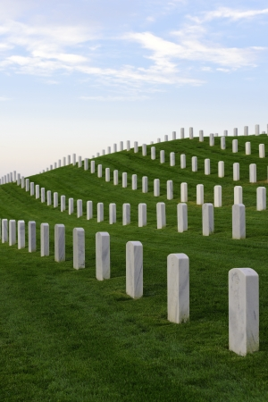 national military cemetery: Image of a national cemetery for military personnel Stock Photo