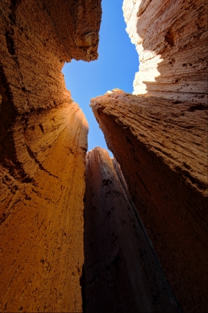 Slot Canyon of Cathedral Gorge State Park, Nevada  USA photo