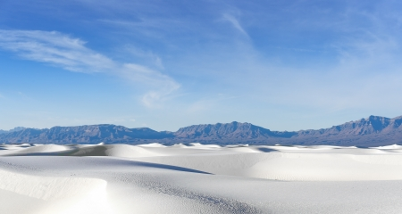 chihuahua desert: White Sands National Monument, New Mexico Stock Photo