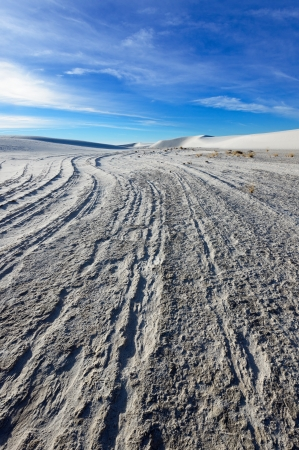 chihuahua desert:  Alkali Flat Trail in White Sands National Monument, New Mexico, USA. Stock Photo