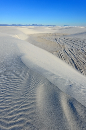 Alkali Flat Trail in White Sands National Monument, New Mexico, USA. Stock Photo - 16871482