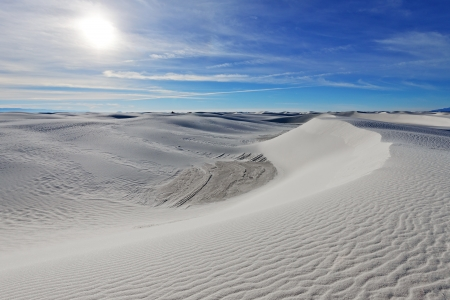 Alkali Flat Trail in White Sands National Monument, New Mexico, USA. photo