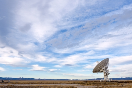 Radio telescopes at the National Radio Astronomy Observatory in Socorro, New Mexico Stock Photo