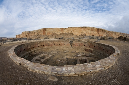 chaco: Large Kiva at the Chaco Culture National Historic Park, New Mexico