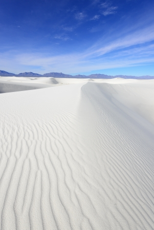 Alkali Flat Trail in White Sands National Monument, New Mexico, USA. Stock Photo - 17079613